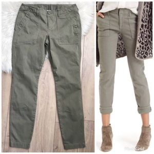CABI #3199 Scout Green Skinny Utility Pants! 8